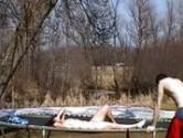 Sexo no trampolim