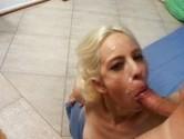 Sexo oral levando gozada na cara